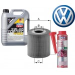 LM Top Tec 4100 5-40 5l + Филтер за масло Golf 4 - Uniflux XOE30 + LM Super Diesel Additive 250ml