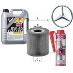 LM Top Tec 4100 5-40 5l + Филтер за масло Mercedes - Uniflux XOE305 + LM Super Diesel Additive 250ml